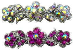Set of 2 Barrettes Hair Clips for the Price of 1 barrette +