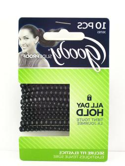 GOODY SLIDEPROOF SECURE FIT HAIR ELASTICS - 10 PCS.