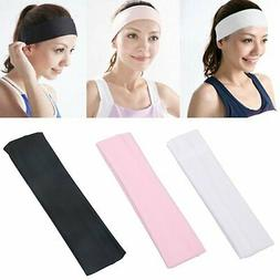 Soft Stretch Headbands Yoga Softball Sports Hair Band Wrap S