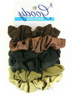 """GOODY """"STARRY NIGHTS COLORS"""" SATIN & COTTON HAIR SCRUNCHIES"""