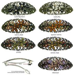 This Wk's Deal Set of 2 Large Oval Barrettes for Women Thick