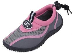 New Sunville Brand Toddler's Pink & Gray Athletic Water Shoe