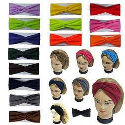 Twisted Hair Wrap Headband Stretchable Turban Yoga Hairband