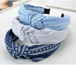 us stock sweet bowknot wide hairband