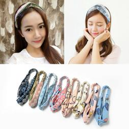US Womens Popular Yoga Elastic Floral Hair Band Headband Tur