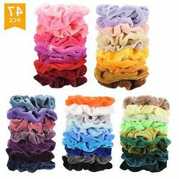 Velvet Hair Scrunchies Bands Scrunchy Ties Ropes Scrunchie A