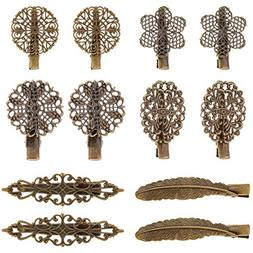 Pangda 12 Pieces Vintage Hair Clips Pins Hair Barrettes Clam