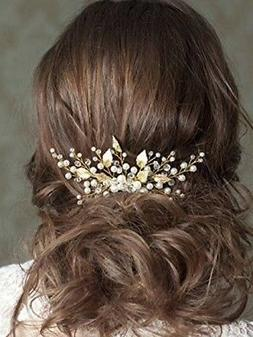 Unicra Wedding Leaf Decorative Hair Comb Bridal Hair Accesso