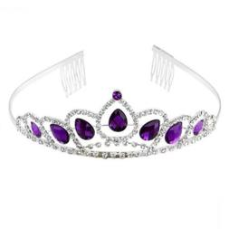 PIXNOR Wedding Tiara Bridal Crown Headband Prom Shining Rhin
