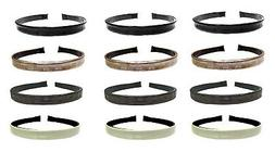 Wholesale Lot of 12  Headbands Lite Wt Hair Bands in Leather