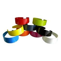 Wide Hard Headbands Vibrant Colorful Girls 2 Inch Hair Band