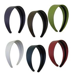 Wide Leather Headbands Colorful Girls 2 Inch Hair Band Acces