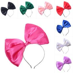 Women Girls Large Big Bow Hair Band Headband Bowknot Headwea