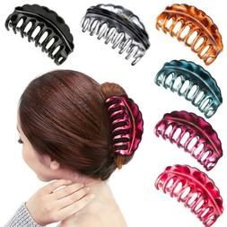 Women Hair Plastic Claws Clamp Clips Hairpin Banana Grips Sl