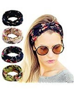 Women Headbands Turban Headwraps Hair Band Bows Accessories
