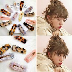 Women Leopard Barrettes Hair Clip Slide Clamp Hairpin Acetat