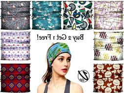VulgrCo Women Men Turban HeadBand Boho Wrap Headband Elastic