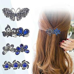 women s crystal rhinestone flower hair pin