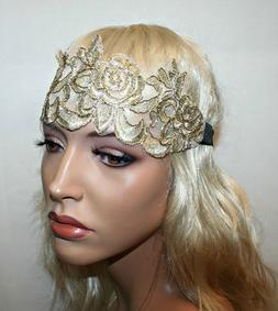 Women's Embroidered Wide Headband, Hair Accessories - Please