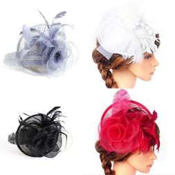 Women's Fascinators Feather Hair Accessories Clips Pillbox H
