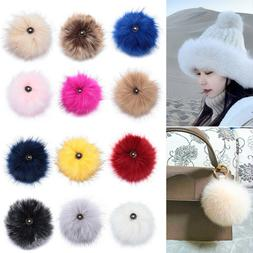 Women's Fashion Knitted Cap Bags Accessories Hairball Hats D