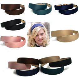 Women's Girls Wide Plastic Headband Hoop Hair Band Satin Hea
