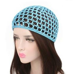 Women's Hand-crocheted Sleeping Caps Hats Hair Accessories N
