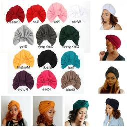 Women's Knotted Hat Set Head Hair Wrap Cap India's Hat Turba