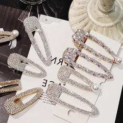 women s luxury shiny crystal pearl hair