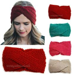 Women's Winter Crochet Knit Headband Headwrap Ear Warmmer Be
