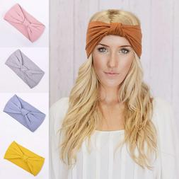 Women Turban Headband Twisted Knotted Girls Hair Accessories