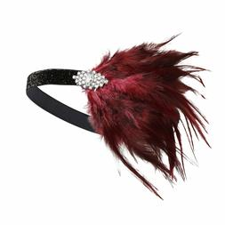 BABEYOND Womens Gatsby Headpiece Flapper Headband Swarovski