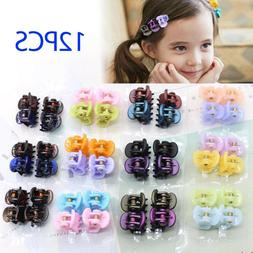 x12 Assorted Girls Women Mini Small Hair Clips Claws Clamps